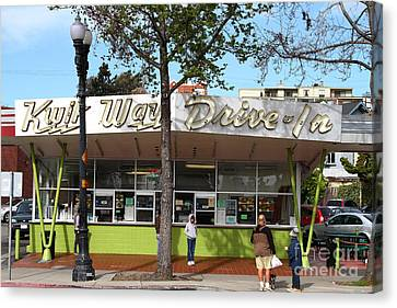 Kwik Way Drive-in Fast Food Restaurant . Oakland California . 7d13521 Canvas Print by Wingsdomain Art and Photography