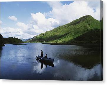 Kylemore Lake, Co Galway, Ireland Canvas Print by The Irish Image Collection