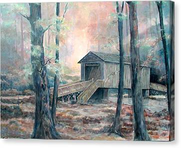 Kymulga Covered Bridge Canvas Print by Gary Partin