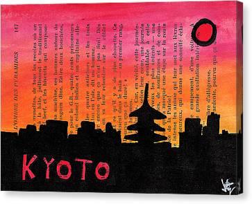 Kyoto Japan Skyline Canvas Print