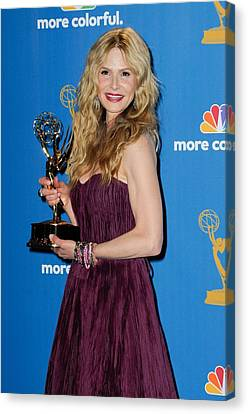 Kyra Sedgwick In The Press Room Canvas Print