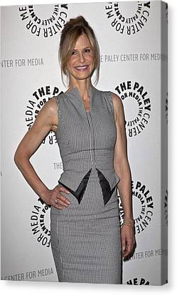 Kyra Sedgwick Wearing An Antonio Canvas Print by Everett