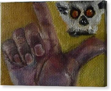 L Is For Lemur Canvas Print by Jessmyne Stephenson