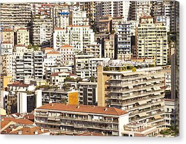 La Condamine And Moneghetti Districts, Monaco Canvas Print by Carlos Sanchez Pereyra