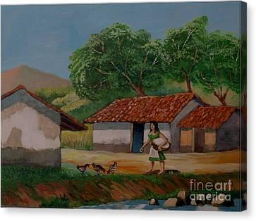 La Dama Del Rio Canvas Print