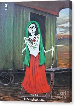 La Dama Canvas Print by Sonia Flores Ruiz