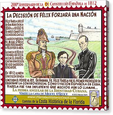 La Decision De Felix Forjara Una Nacion Canvas Print