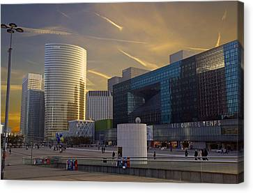 Canvas Print featuring the photograph La Defense by Rod Jones