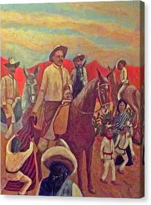 La Fiesta De San Martin De Caballo Canvas Print by James R Sanchez