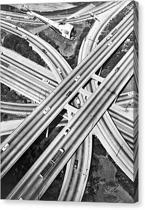 La Freeway Interchange Canvas Print