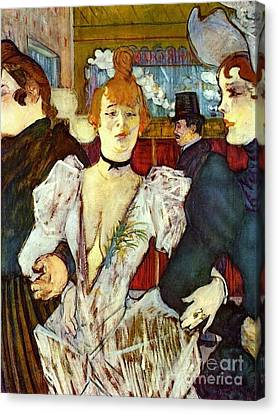 La Goule Arriving At Moulin Rouge Canvas Print by Pg Reproductions