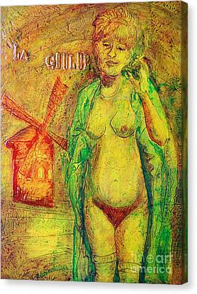Canvas Print featuring the painting La Goulue by D Renee Wilson