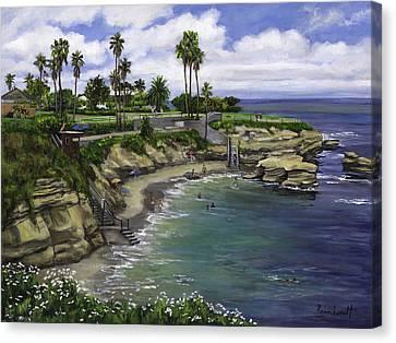 La Jolla Cove 2 Canvas Print by Lisa Reinhardt