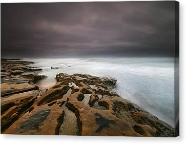 La Jolla Art Canvas Print - La Jolla Reef Sunset 5 by Larry Marshall