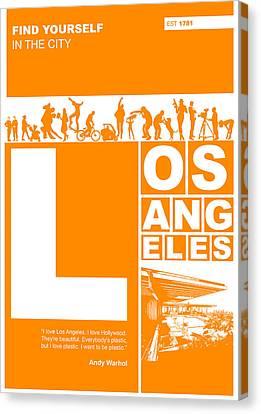 La Orange Poster Canvas Print by Naxart Studio