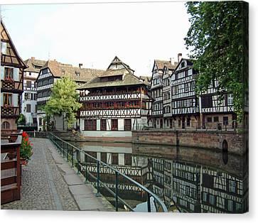 Canvas Print featuring the photograph La Petite France Strasbourg France by Joseph Hendrix