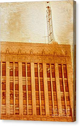 Canvas Print featuring the painting La Radio Tower by Gregory Dyer