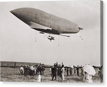 La Republique A Semi-rigid Airship Canvas Print by Everett