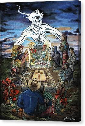 La Reunion Familiar Canvas Print by Isis Rodriguez