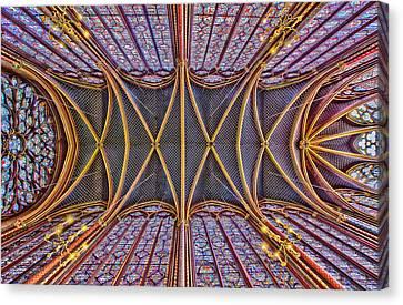 La Sainte-chapelle Canvas Print by Stephanie Benjamin