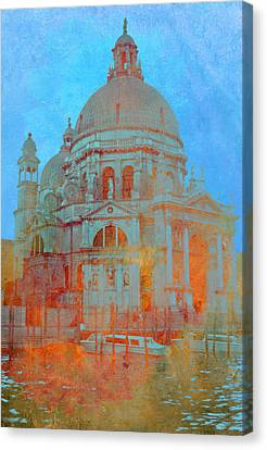 Canvas Print featuring the photograph La Salute by Rod Jones