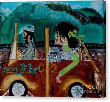 La Shai-on The Road Again-i Will Kill That Hotel Manager When I Get There Canvas Print by Marie Bulger