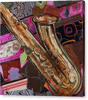 La The Sax Canvas Print