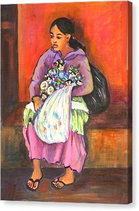 La Vendedora Canvas Print