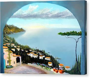 La Vista Del Mare Canvas Print by Larry Cirigliano