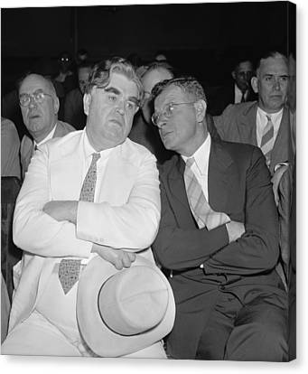 Labor Leaders, John L. Lewis And Sidney Canvas Print by Everett