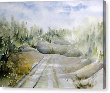 Labrador Wilderness Canvas Print by Ramona Kraemer-Dobson