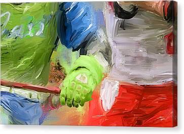 Lacrosse Glove Canvas Print by Scott Melby