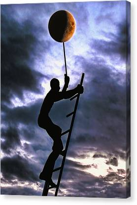 Ladder To The Moon Canvas Print by Joachim G Pinkawa