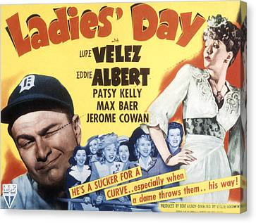 Ladies Day, Eddie Albert, Patsy Kelly Canvas Print by Everett
