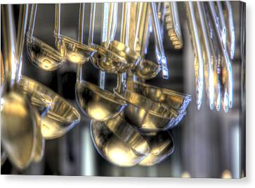 Ladles And Spoons Canvas Print by Steve Gravano