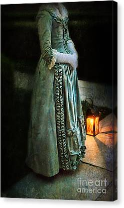 Lady By Lantern Light Canvas Print by Jill Battaglia