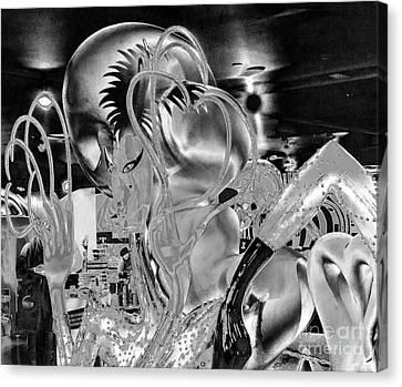 Lady Gaga Liquid Canvas Print by Chuck Kuhn