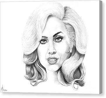 Lady Gaga Canvas Print by Murphy Elliott