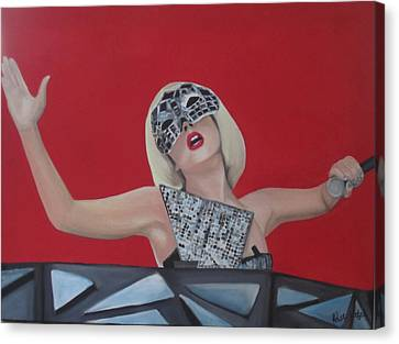 Lady Gaga Poker Face Canvas Print by Kristin Wetzel