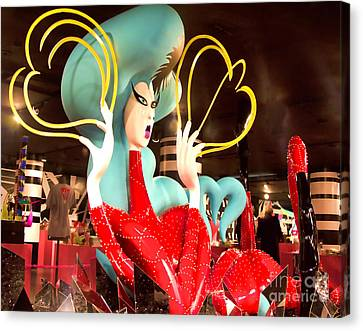 Lady Gaga Vii Canvas Print by Chuck Kuhn