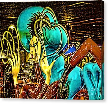 Lady Gaga Xii Canvas Print by Chuck Kuhn