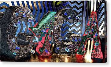 Lady Gaga Xmas Canvas Print by Chuck Kuhn