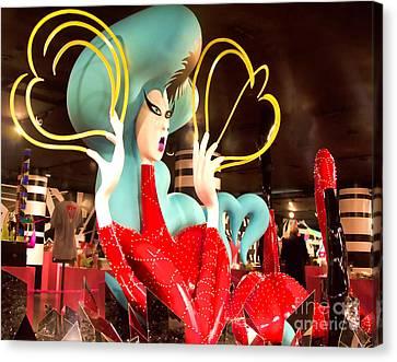 Lady Gaga Xv Canvas Print by Chuck Kuhn