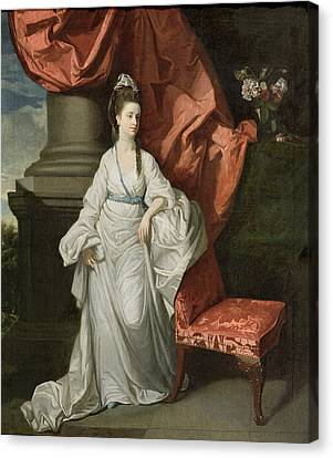 Lady Grant - Wife Of Sir James Grant Canvas Print by Johann Zoffany