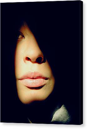 Lady In Darkness Canvas Print