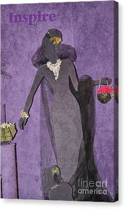 Canvas Print featuring the photograph Lady In Grey by Tamera James