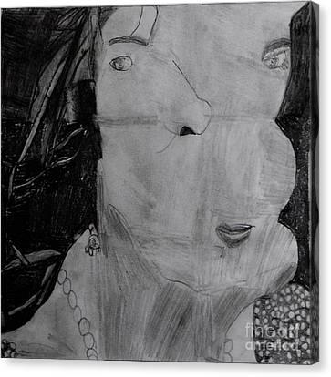 Lady In Pearls Canvas Print by Stephanie Ward