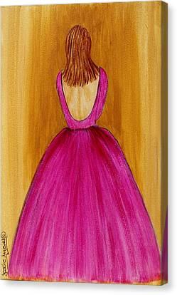 Lady In Pink 4536 Canvas Print by Jessie Meier