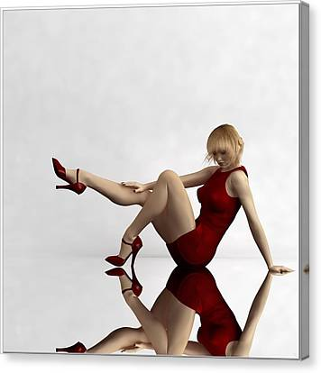 Lady In Red... Canvas Print by Tim Fillingim