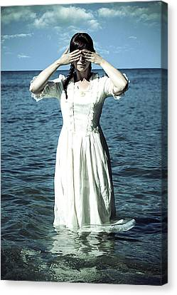 Lady In Water Canvas Print by Joana Kruse